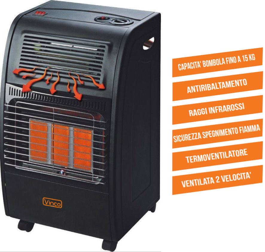 Stufa ad infrarossi ventilata equogas for Stufa catalitica o infrarossi
